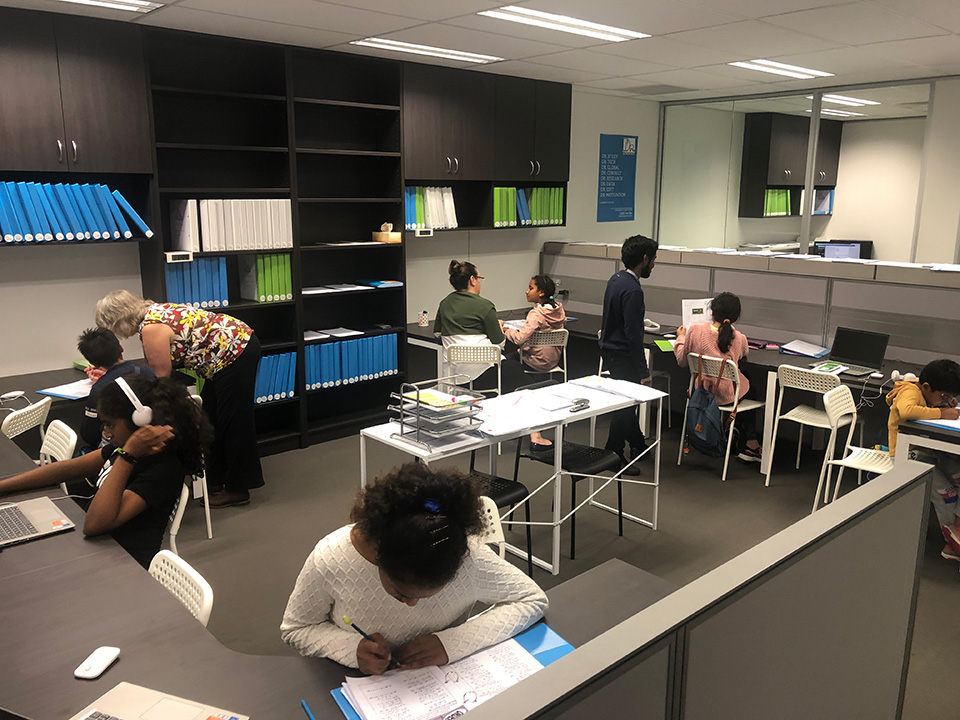 Students learning in the Dr Study classroom
