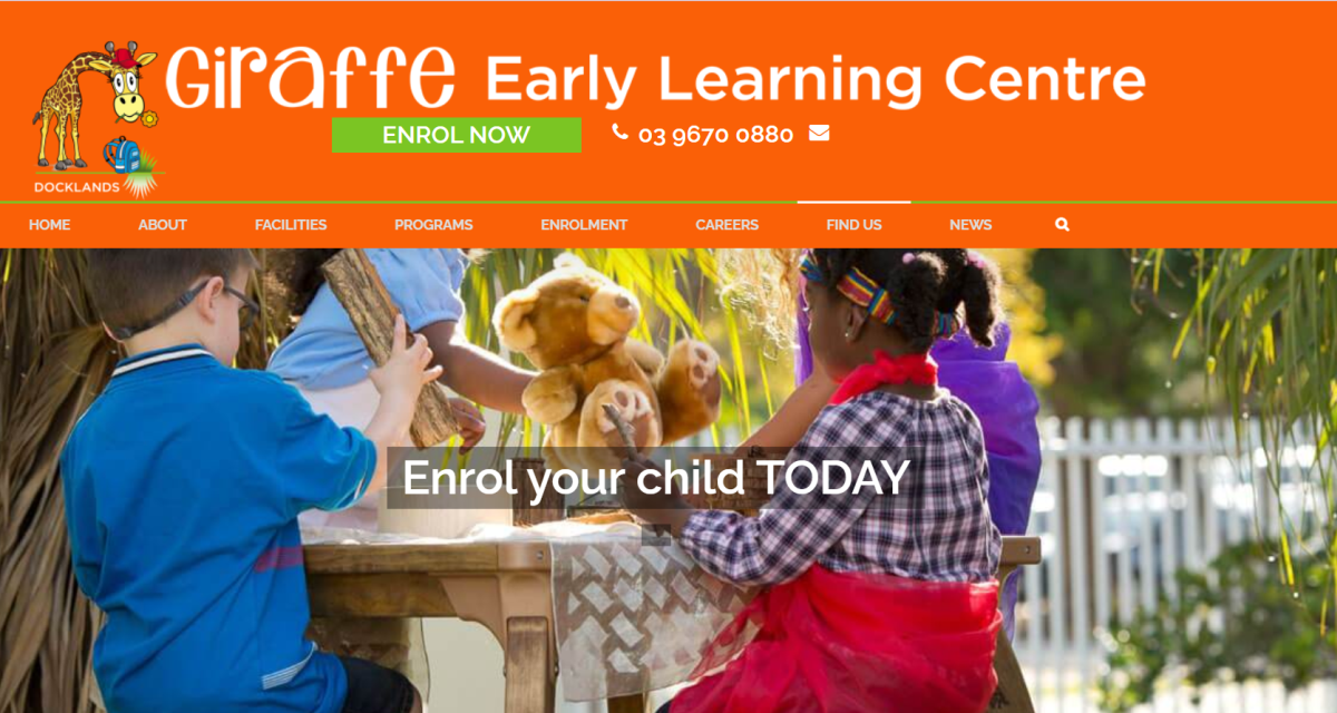giraffe early learning centre – docklands melbourne