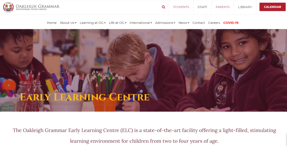 oakleigh grammar early learning centre melbourne